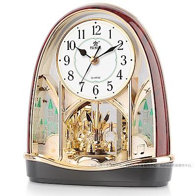 POWER霸王鐘錶-素雅設計高品質座鐘-歐風城堡-PW-4213-ARKS-25.1CM