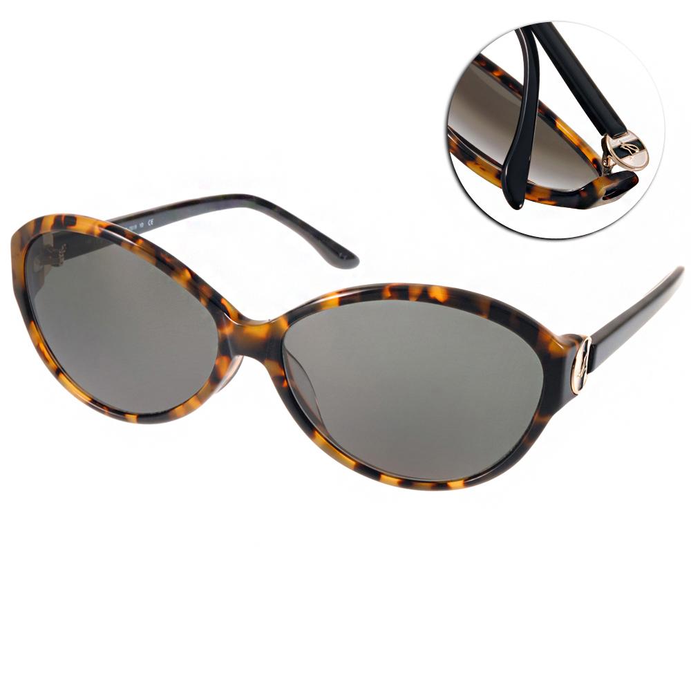 agnes b.太陽眼鏡 法式logo款/琥珀棕#AB2819 YD