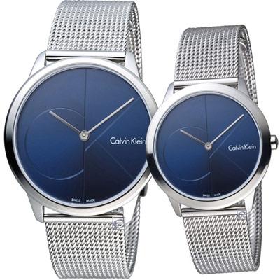 Calvin Klein Minimal穿越愛戀對錶(K3M2112N+K3M2212N)