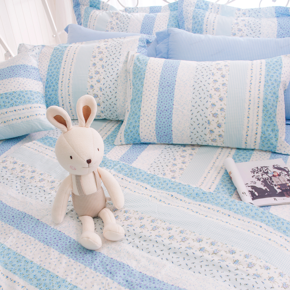 OLIVIA  維多利亞 藍 單人床包枕套兩件組
