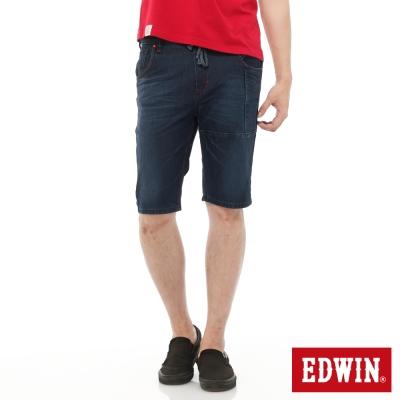 EDWIN 迦績褲JERSEYS工作牛仔短褲-男-石洗綠