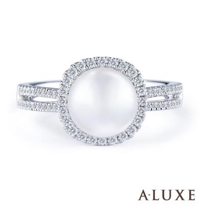 A-LUXE 亞立詩 寵愛系列 18K鑽石AKOYA珍珠戒指