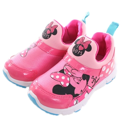 迪士尼 米妮 亮皮美型休閒鞋 桃 sh0001 魔法Baby