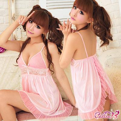 【Caelia】浪漫滿屋!後開襟二件式睡襯衣