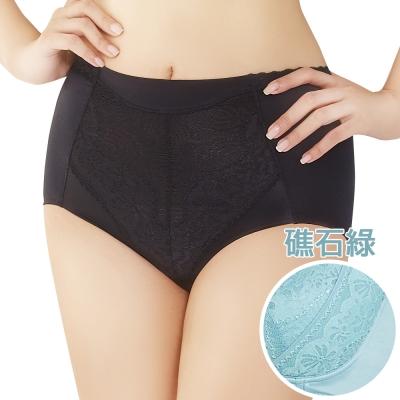 思薇爾 挺享塑系列M-XL高腰三角修飾褲(礁石綠)