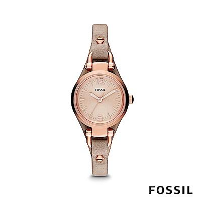 FOSSIL GEORGIA 復古皮革女錶 約26mm ES3262