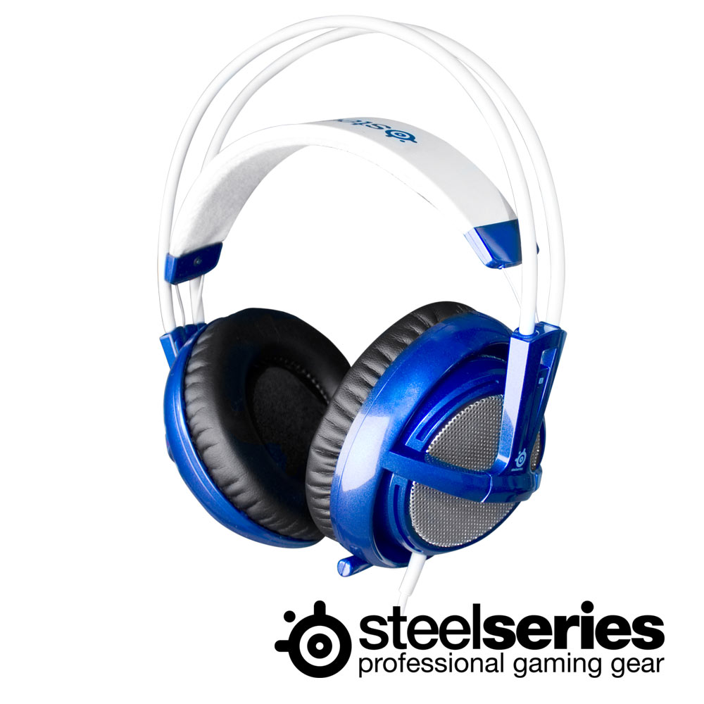 SteelSeries 西伯利亞 V2 藍色 電競耳機麥克風