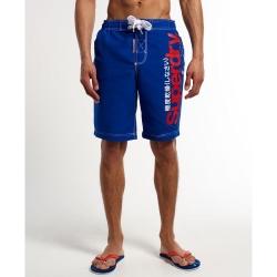 極度乾燥 SUPERDRY 文字短褲 藍色 002