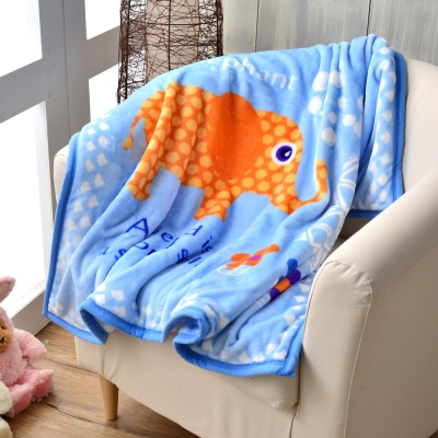 MONTAGUT-可愛法蘭絨兒童毛毯-大象