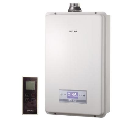 櫻花牌-SH-1625-無線遙控恆溫16L強制排氣