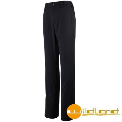 【Wildland 荒野】W1317 女 彈性抗UV休閒長褲 (54黑色)