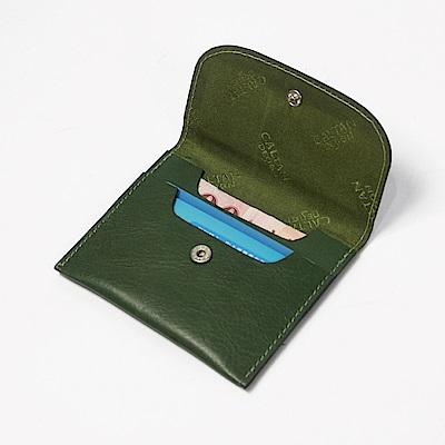 CALTAN-零錢袋 卡片夾 牛皮 真皮小物 零錢包 女包 女用-2189cd-綠