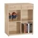 品家居 黛樂2.7尺書櫃(兩色可選)-80.6x37.5x90.9cm-免組