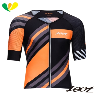 ZOOT頂級風動力學(有袖)鐵人上衣(男)(彩紋橘) Z1706016