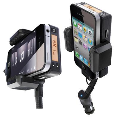 HTC One X 四合一車架 FM對頻 車內擴音/可充電