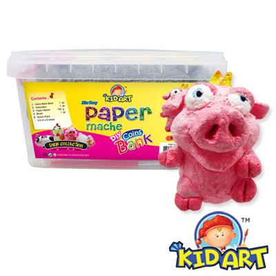 KID-ART-美國創意手作黏土-紙黏土-噗皮豬