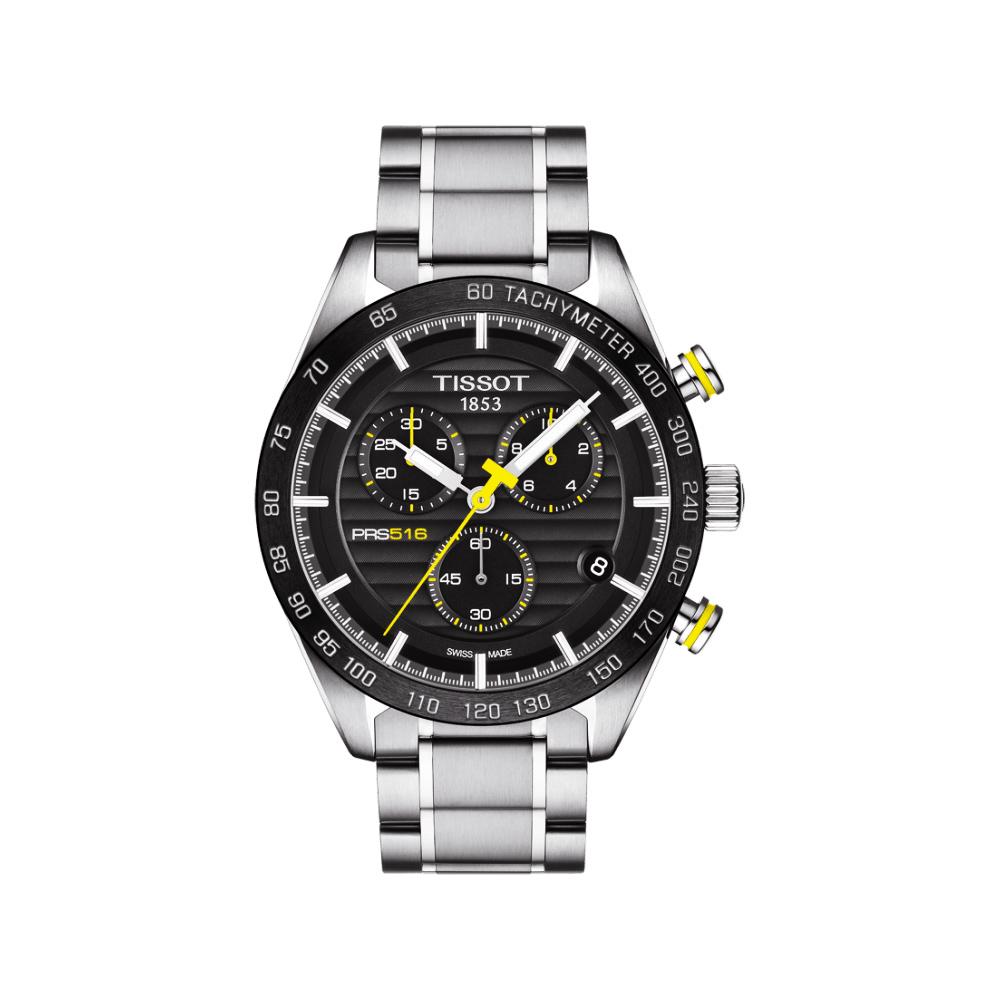 TISSOT PRS516 系列三眼計時腕錶(T1004171105100)-黑/42mm