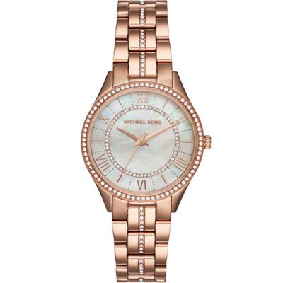 Michael Kors  璀璨時尚腕錶-白/33mm