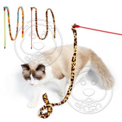 DYY》爆款彩色布條逗貓咪玩具35CM