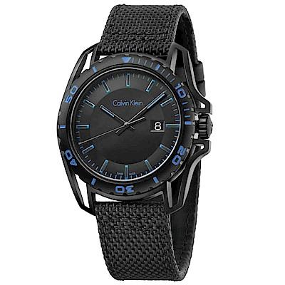 CK CALVIN KLEIN Earth 寰宇系列黑色面盤手錶-44mm