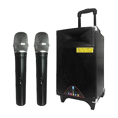 KARAWALKER行動藍芽拉桿式擴音音箱(EA-9028)-無線麥克風版