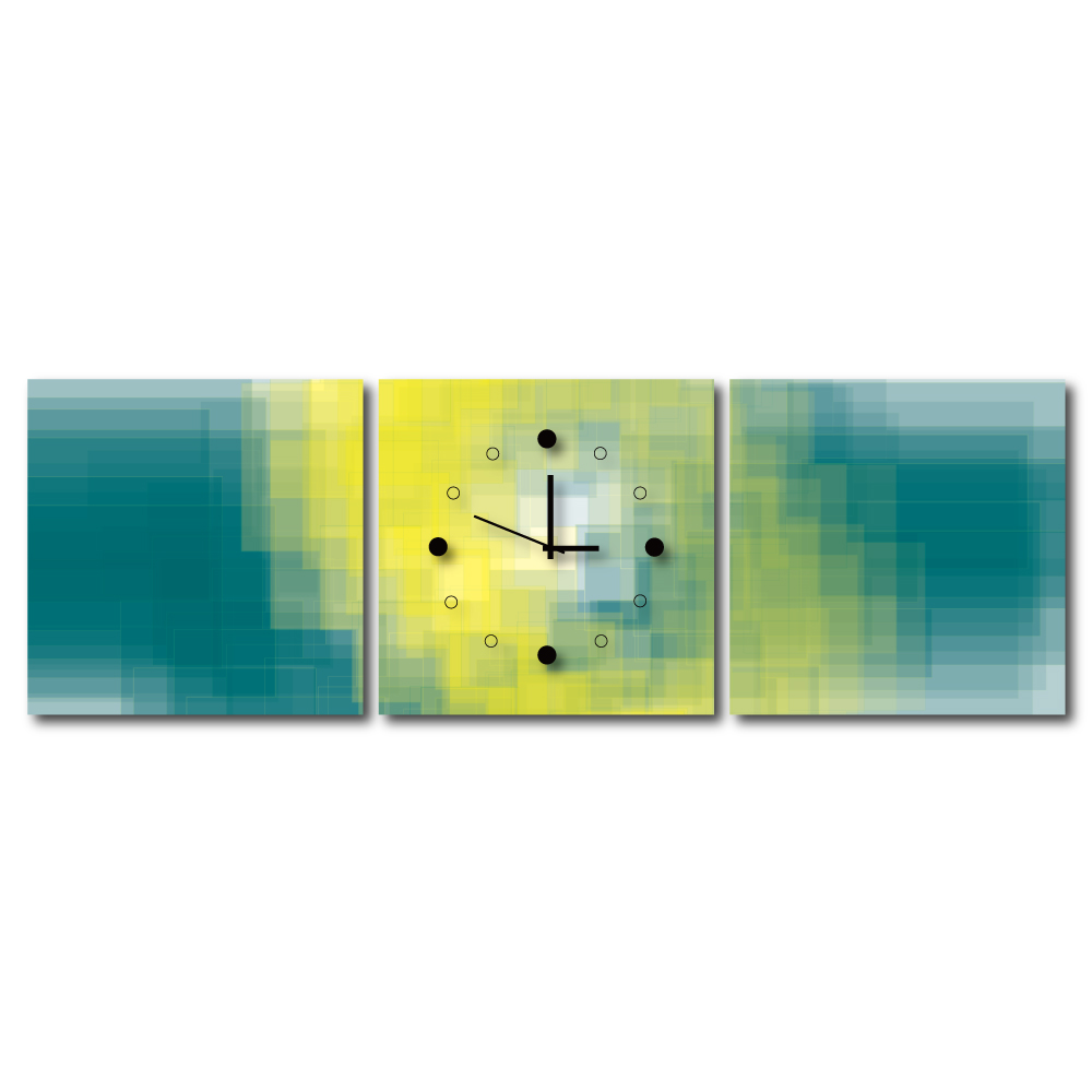 24mama掛畫 - 三聯式無框藝術掛畫時鐘-馬戲團垂落的布幕40x40cm