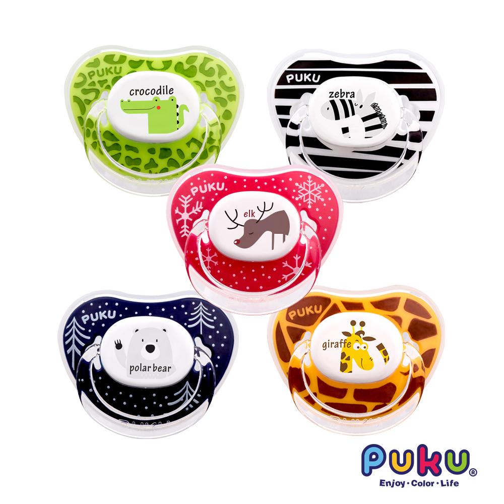 PUKU Animal安撫(初生)奶嘴-2入(款式隨機出貨)