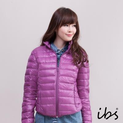 ibs 極輕量純白絨立領羽絨外套-紫色-女