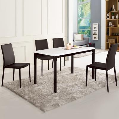 Boden-雪莉4尺原石餐桌椅組(一桌四椅)四色-120x70x73cm