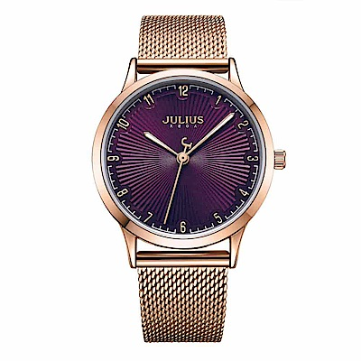 JULIUS聚利時 刻劃旅程米蘭錶帶腕錶-魅力紫/32mm