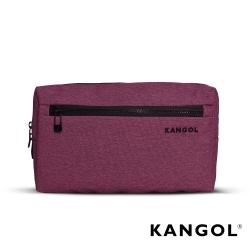 KANGOL 韓國經典側背休閒包/學生包/情侶包-混織桃 KG1152