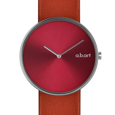 a.b.art DL系列 都會極簡時尚腕錶-紅/39mm