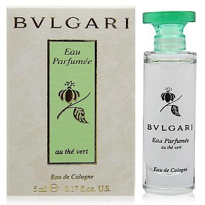 BVLGARI寶格麗 綠茶中性古龍水5ml