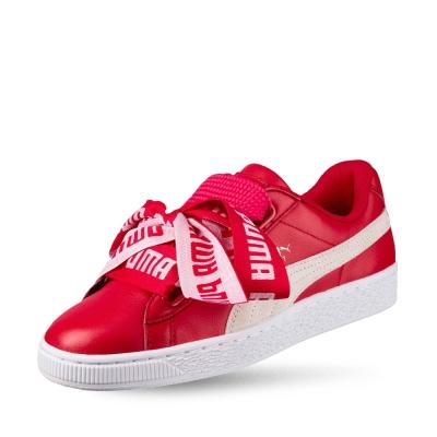 PUMA-Basket Heart DE Wn-s 女性復古籃球運動鞋-緞帶紅