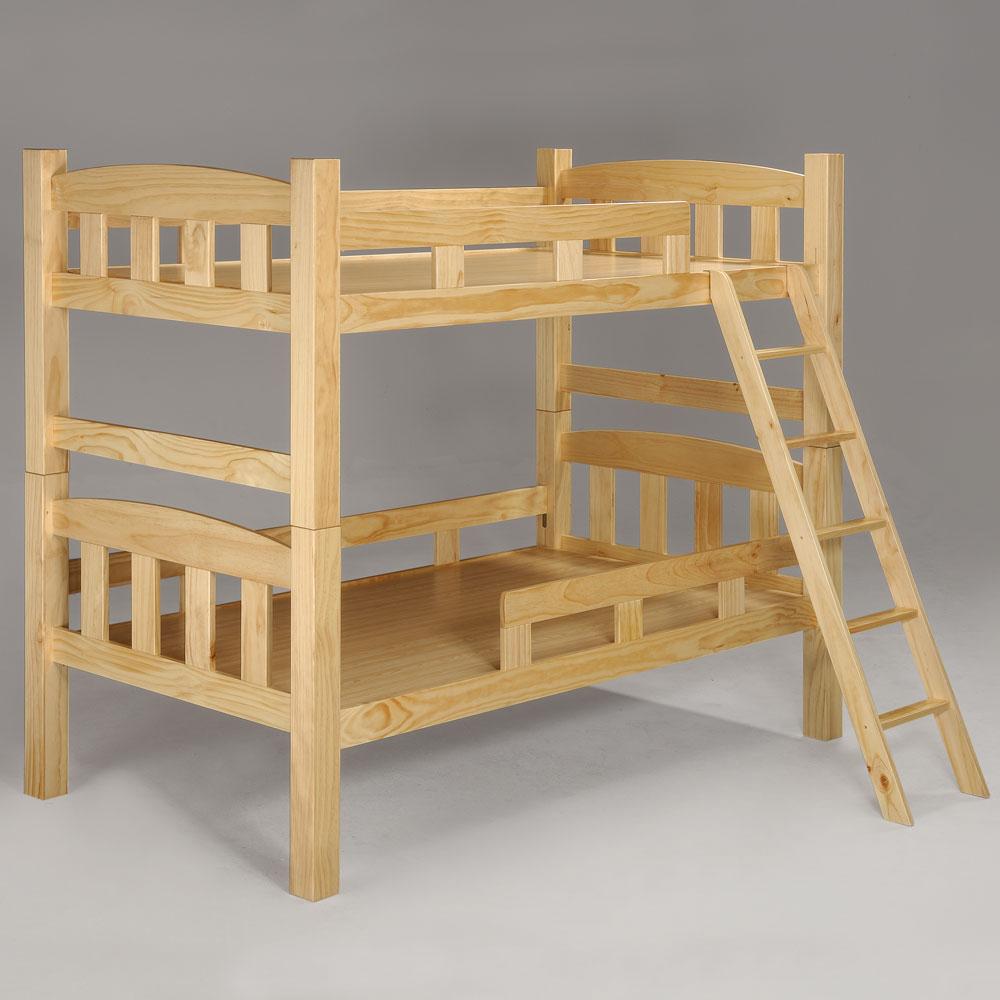 Homelike 派克3.5尺雙層床 原木色