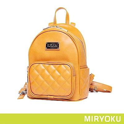 MIRYOKU / 經典菱格紋後背包(共3色)