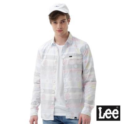 Lee 圓點印花長袖襯衫/RG-男款-白