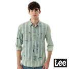 Lee牛仔長袖襯衫101+小破壞-男款-藍