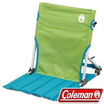 Coleman CM7673_萊姆綠-地板椅 /低座椅/戶外野餐椅/摺疊椅/休閒椅/合室椅