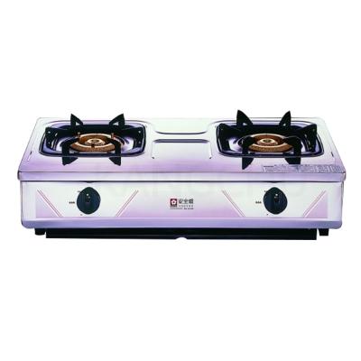 櫻花牌-G-632K-純銅爐頭全白鐵傳統式二口瓦斯