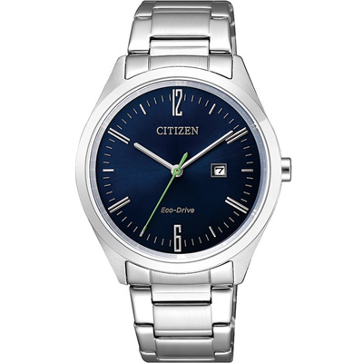 CITIZEN Eco Drive 典雅光動能女錶(EW2450-84L)-藍/34mm