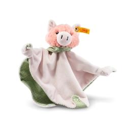 STEIFF德國金耳釦泰迪熊 - 嬰幼兒安撫巾 Happy Farm Pig Comfor
