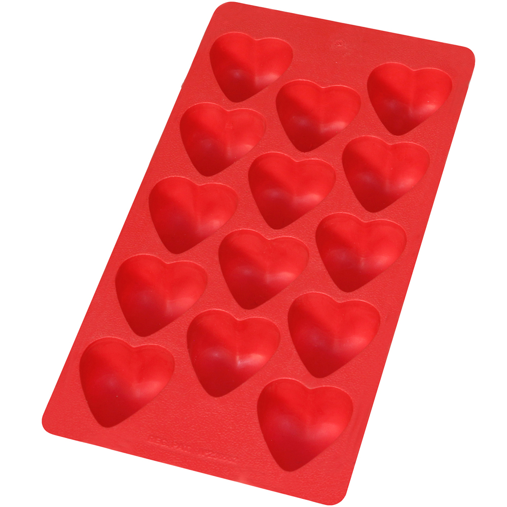 LEKUE 14格愛心製冰盒(紅)