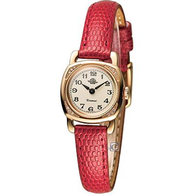 Rosemont 玫瑰錶迷你版玫瑰系列 時尚腕錶-玫瑰金x紅/20x20mm