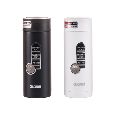 GLORIA日本SUS#316不鏽鋼真空保溫瓶(濾網型)350ml GBM-35B