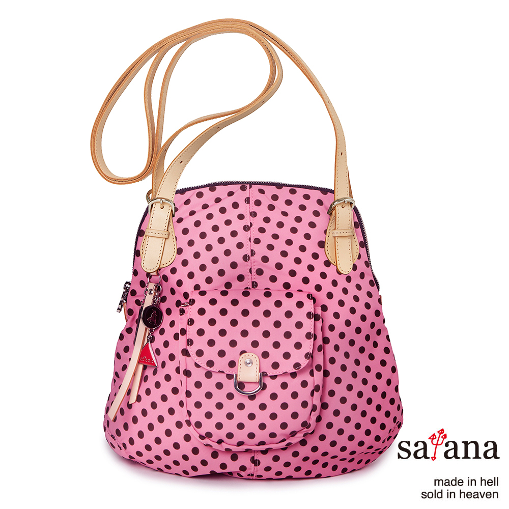 satana -929 Ladies 簡約時尚肩背/後背包-凡爾賽玫瑰圓點