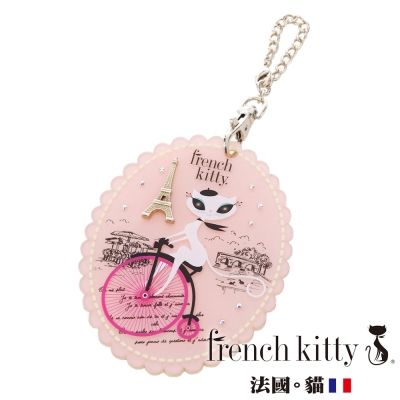 french-kitty-票卡夾吊飾-粉紅色