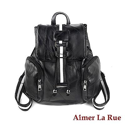 Aimer La Rue 後背包 羊皮桑尼布萊克系列(黑色)