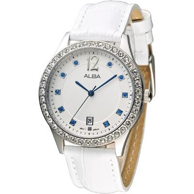ALBA 風采絕代晶鑽女錶(AG8489X1)-白/36mm