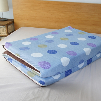 Saint Rose 單人亞藤蓆天然纖維三折式冬夏兩用床墊-普普風